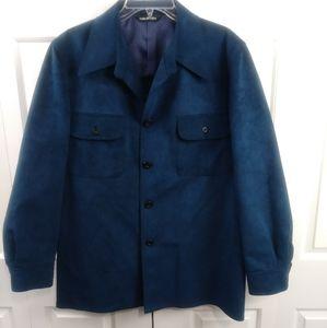 MEN'S Halston Suede Button Down Shirt